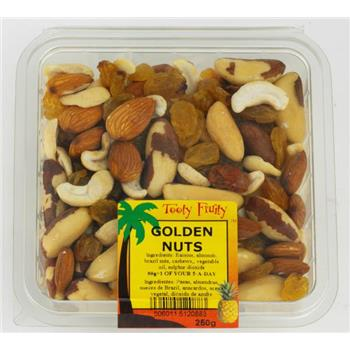 Tooty Fruity Golden Nuts 250g