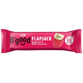 B'Good Flapjack Raspberry & White Chocolate